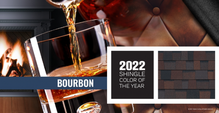 """Owens Corning Introduces """"Bourbon"""" as 2022 Shingle Color of the Year"""